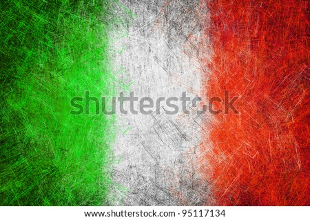 Grunge textured flag - stock photo