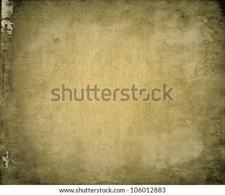 Grunge textured grainy recycled retro paper vintage background - stock photo