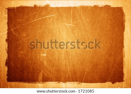 Grunge textured metal background with border - stock photo