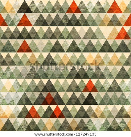 grunge triangle seamless pattern (raster version) - stock photo