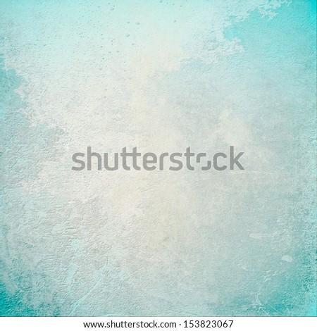 Grunge tuquoise background - stock photo