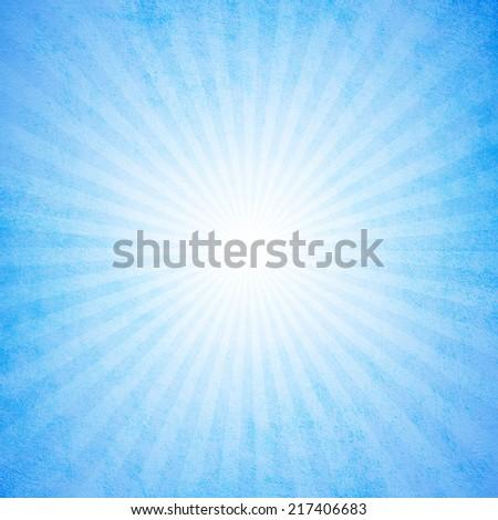 Grunge turquoise starburst effect background - stock photo