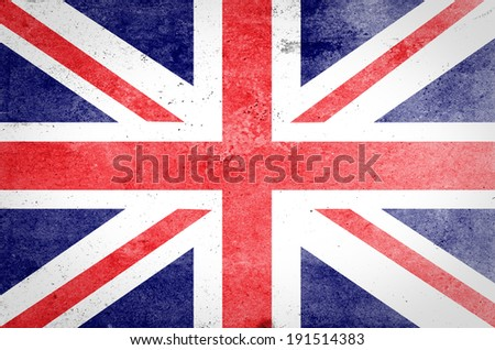 Grunge United kingdom Flag  - stock photo