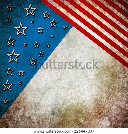 Grunge USA style background - stock photo