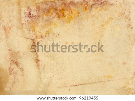 Grunge vintage old paper background. Texture of rusty spots - stock photo