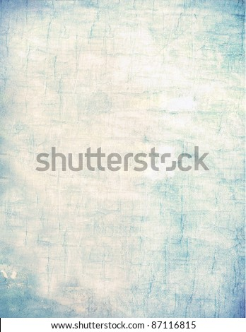 Grunge vintage textured abstract background frame for scrap-booking, invitation or computer web wallpaper. Blue green tan sepia brown and yellow distressed surface paint splatters. - stock photo