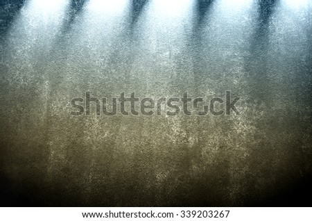 grunge wall with light background - stock photo