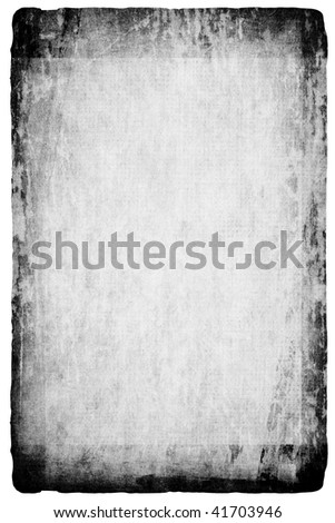 Grunge wallpaper isolated on white - stock photo