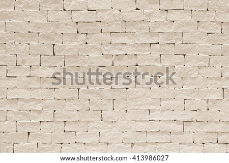 Grunge weathered rural texture stained old stucco light cream beige brown aged colour paint white brick wall background room: Grungy rusty block stonework color architecture wallpaper vintage style - stock photo