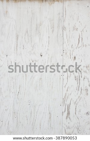 Grunge worn rough background texture with tons of character white plywood - stock photo