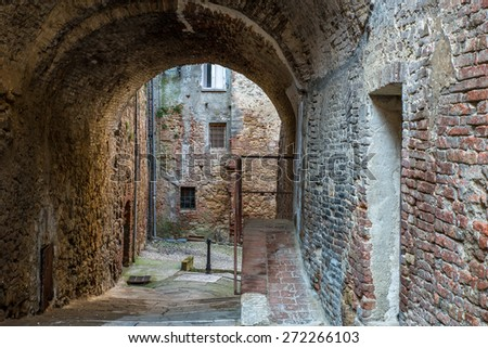 Grungy alley - stock photo