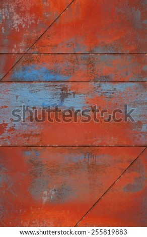 Grungy And Rusty Metal Background with Seams  - stock photo