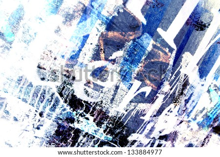 Grungy background in a blue colors - stock photo