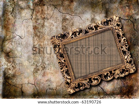 grungy background with  frame - stock photo