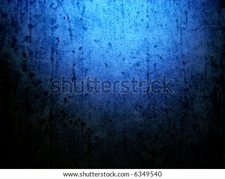 grungy blue background horizontal - stock photo