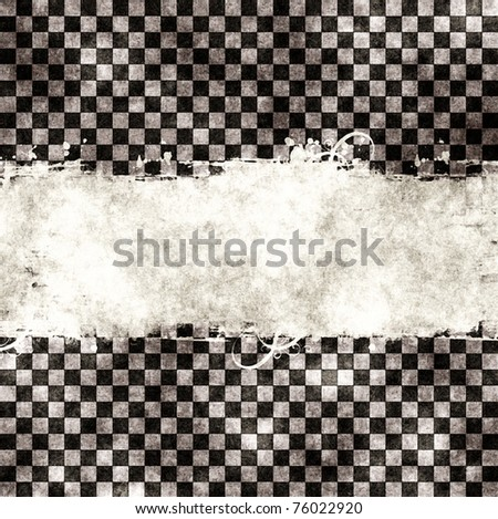 Grungy chessboard illustration seamless - stock photo