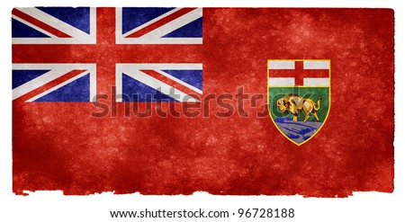 Grungy Flag of Manitoba on Vintage Paper - stock photo