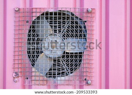 Grungy old industrial extraction fan long overdue for replacement - stock photo