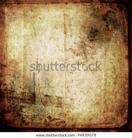 Grungy old paper.Textured background - stock photo