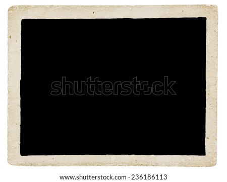 Grungy Old Stained And Dirty Photo Border On White Background - stock photo