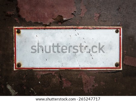 Grungy Old Street Sign For Your Text - stock photo