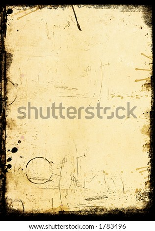 grungy old vintage piece of paper - stock photo