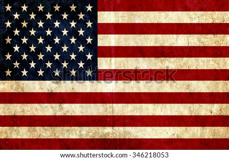 Grungy paper flag of United States of America - stock photo