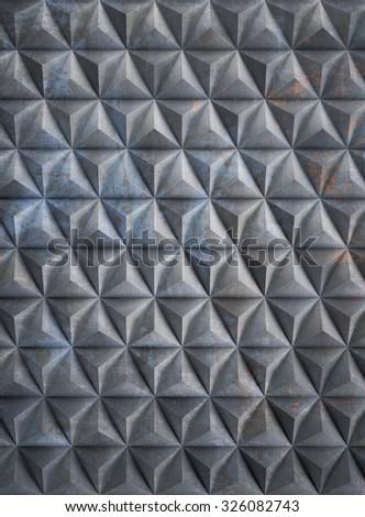 Grungy Stained Aluminum Background - stock photo