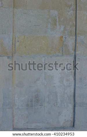 Grungy wall background or textured, concrete, grey plaster, cement construction. - stock photo