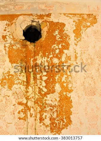Grungy wall / Sandstone surface background / Wall texture - stock photo