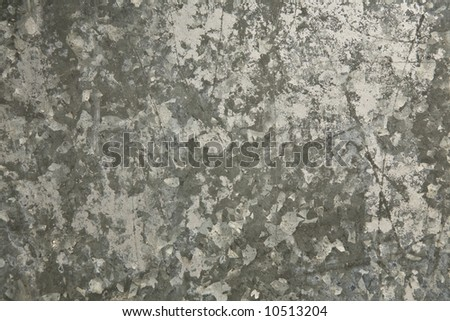 Grungy weathered galvanized metal useful for background/texture. - stock photo