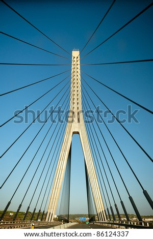 Guadiana International Bridge - stock photo