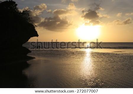 Guam sea - stock photo