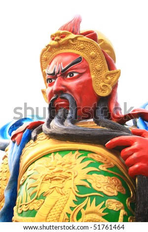Guan Yu, god of honor - stock photo