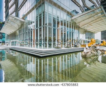 GUANGZHOU, CHINA - JUN 10.:Modern skyscrapers  in Guangzhou on Jun 10, 2016. Guangzhou is one of the major economic cities in China - stock photo