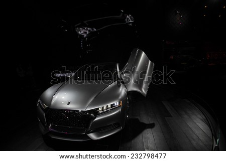 GUANGZHOU, CHINA - NOV. 20. 2014: DS car on the 12th China International Automobile Exhibition. - stock photo