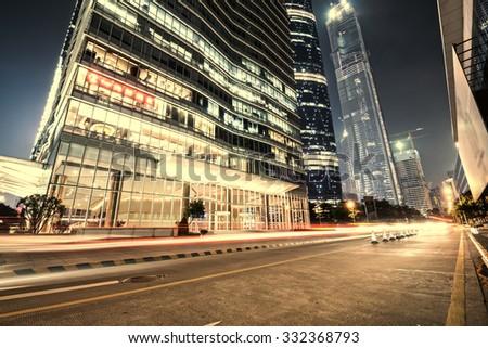 Guangzhou, China, the Pearl River Night - stock photo
