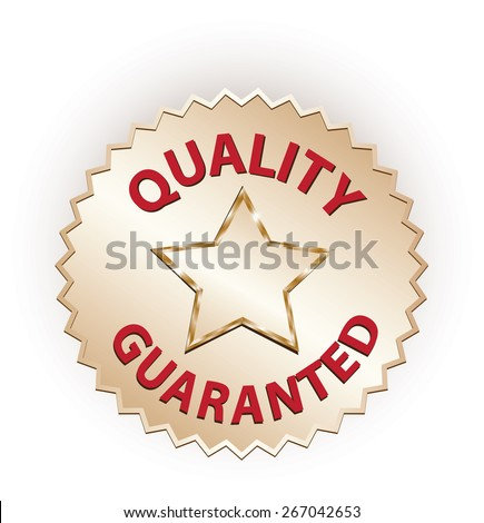 Guarantee and quality label - stock photo