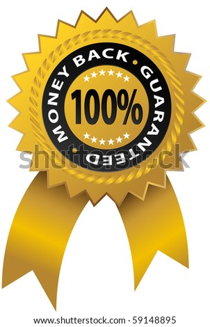 Guaranty Ribbon - stock photo