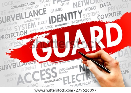GUARD word cloud, security concept - stock photo