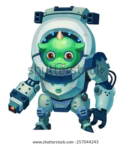 Guardian Animal - Character Design - stock photo