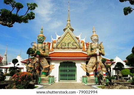 Guardian in grand palace in Bangkok, Thailand - stock photo