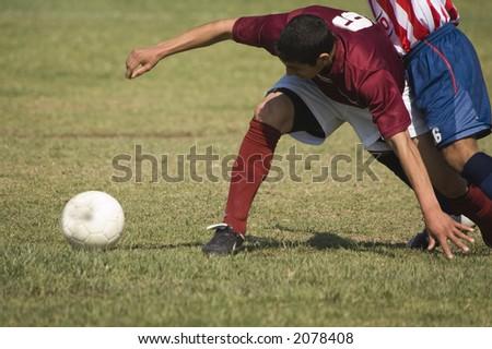 Guarding the Ball - stock photo