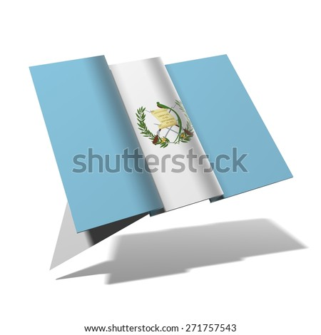Guatemala flag 3D banner - stock photo