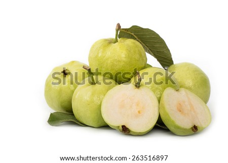 guava fruit,tropical fruit - stock photo