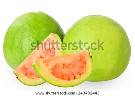Guava isolated on white  - stock photo