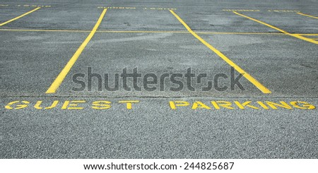 Guest Parking - stock photo