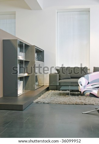 guest room interior - stock photo