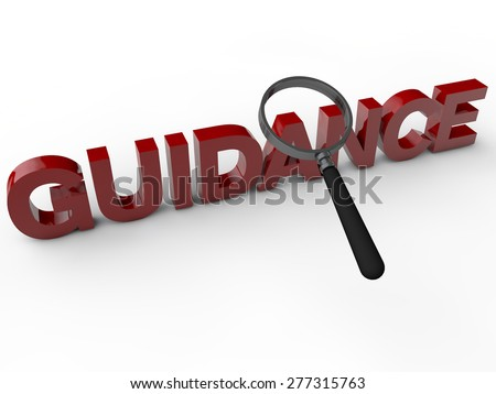Guidance - 3D Text  - stock photo