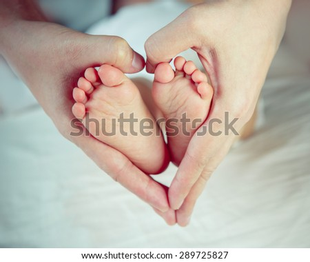Guiding her way with love - stock photo